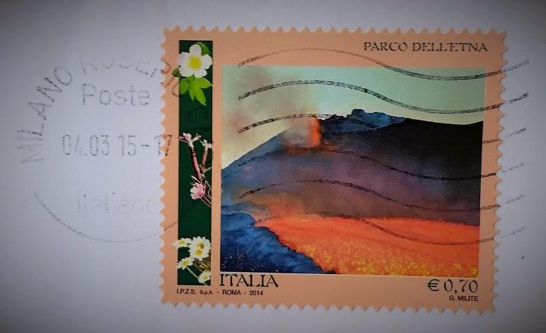 francobollo del 2014 dedicato al Parco dell'Etna
