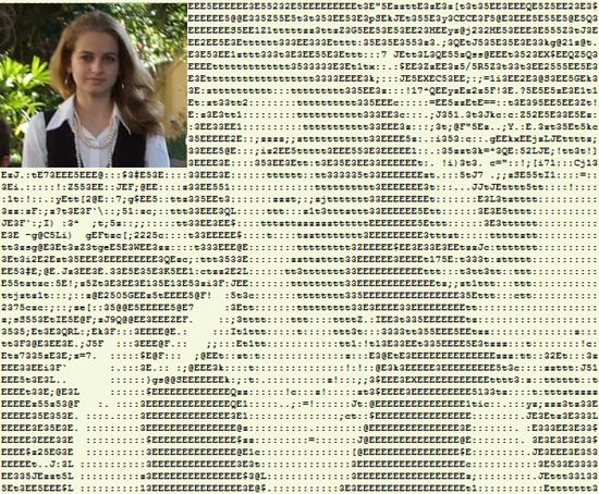 ascii art transformation photo en texte