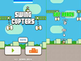 Cara Sukses Main Swing Copters Dapat High Score Cepat dan Mudah tanpa Nabrak Palu