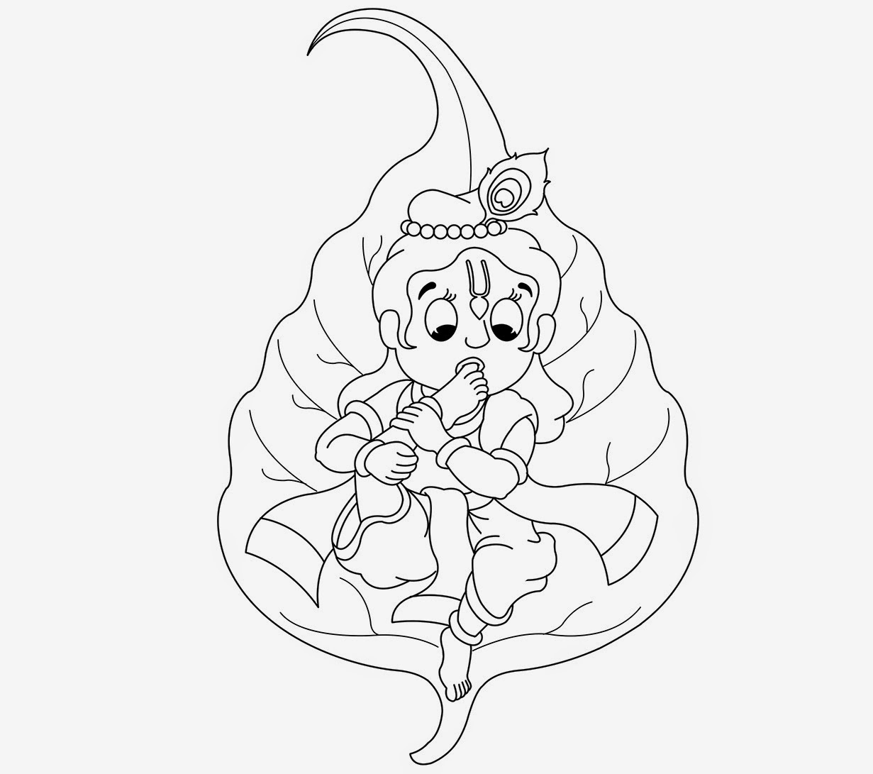 little krishna coloring drawing free wallpaper - Baby Krishna Images Coloring Pages