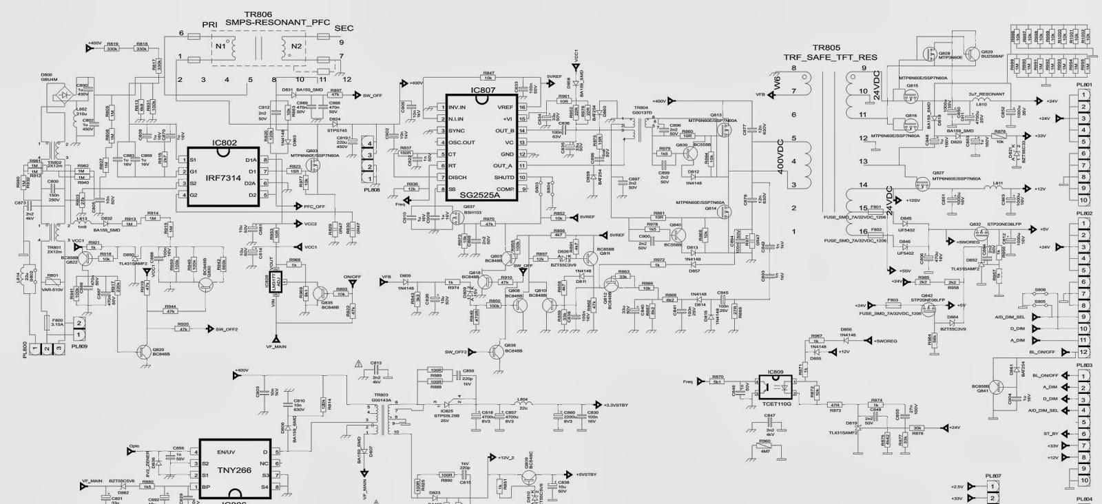 Groovy Hitachi 37Ld6600 Lcd Tv Resonant Mode Tft Power Supply Wiring Digital Resources Funapmognl