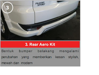 Rear Aero Kit Pajero Limited