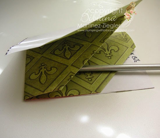 diagonal double pocket fold card flat view pockets
