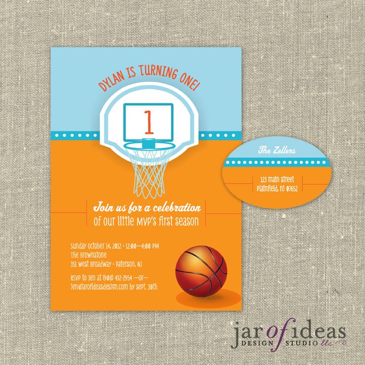 Jar of Ideas Basketball First Birthday