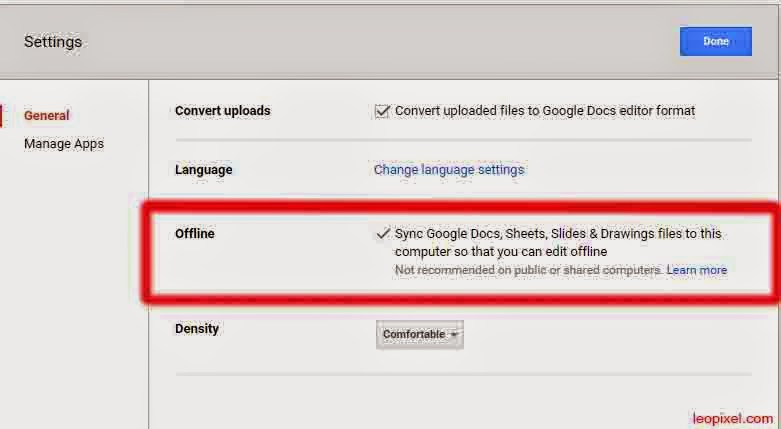 How to Set up Google Drive offline Access