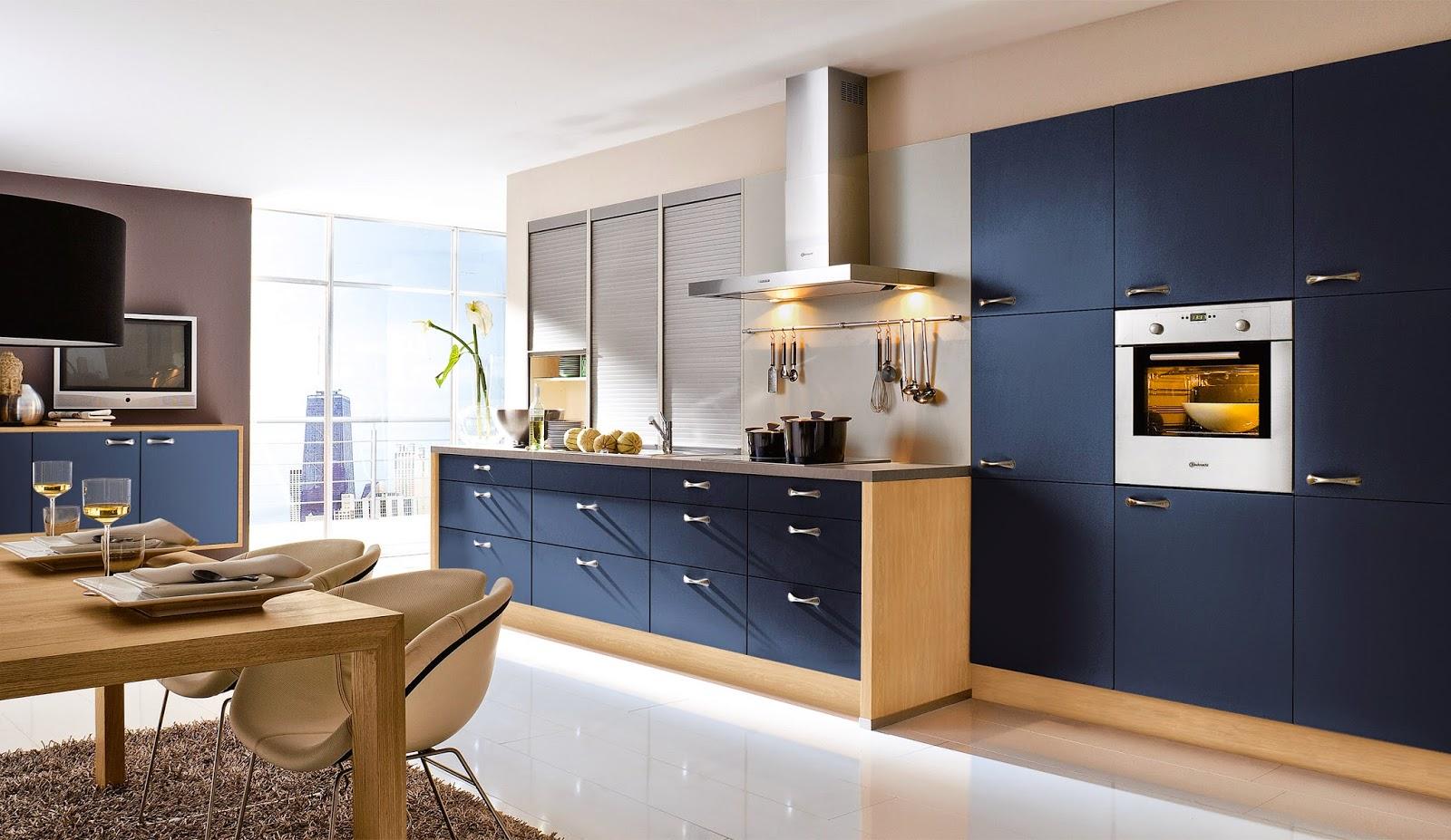 10 fotos de cocinas azules colores en casa - Cocina blanca y azul ...