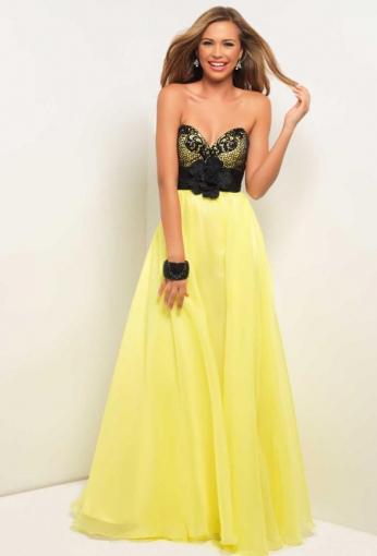 vestito nero e giallo