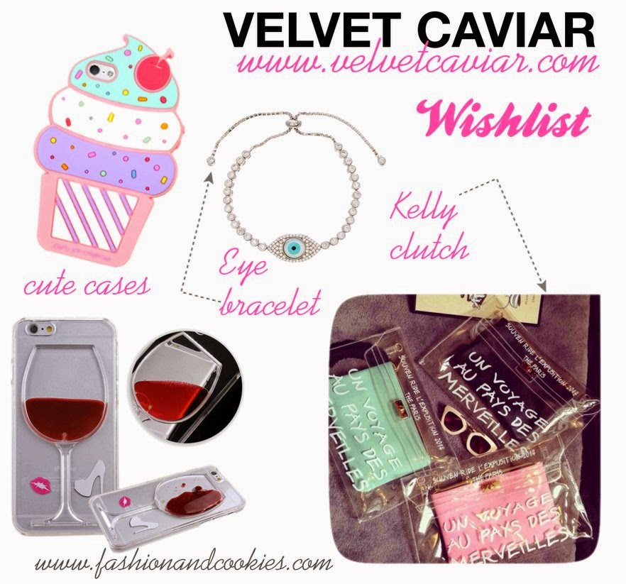 Velvet Caviar wishlist, cool iPhone cases, Kelly clutch, affordable accessories, new webshop, Fashion and Cookies fashion blog, fashion blogger