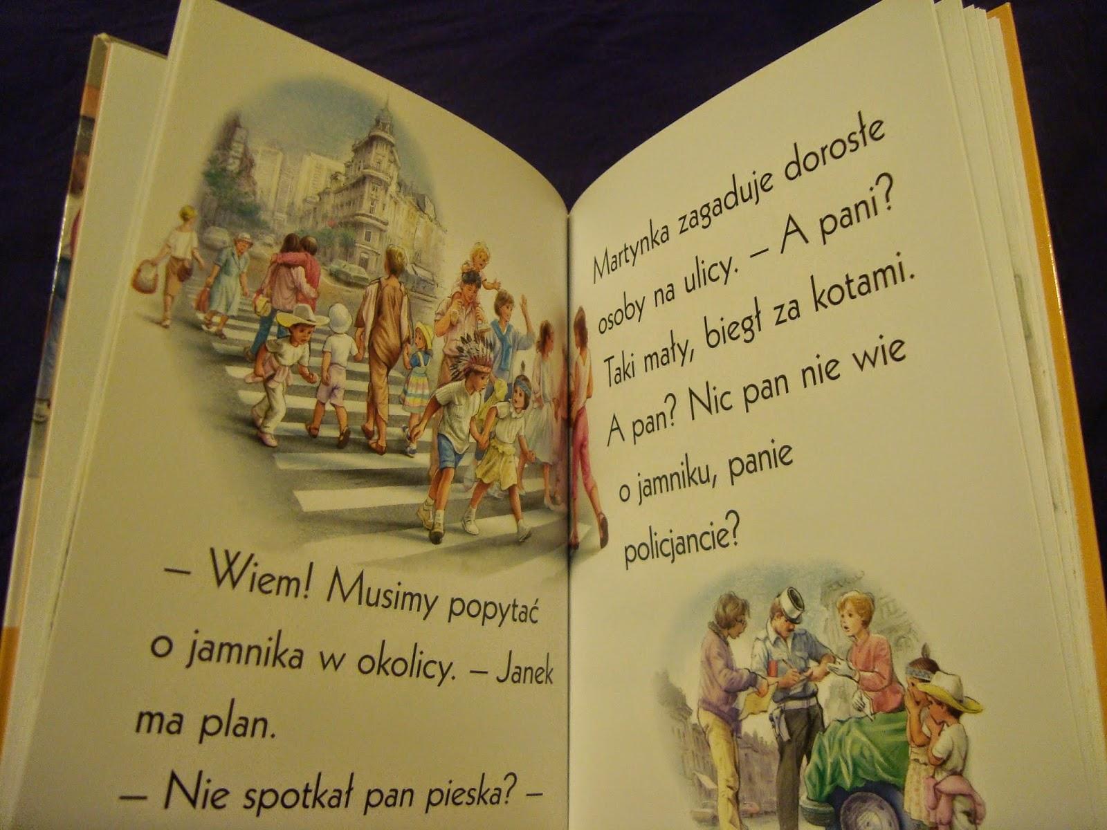 zaginiony piesek, książka do nauki czytania, seria o Martynce