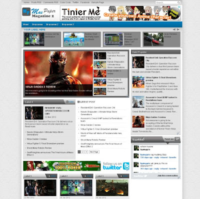 Super magazine blogger temlate free download super magazine for Free html blog templates