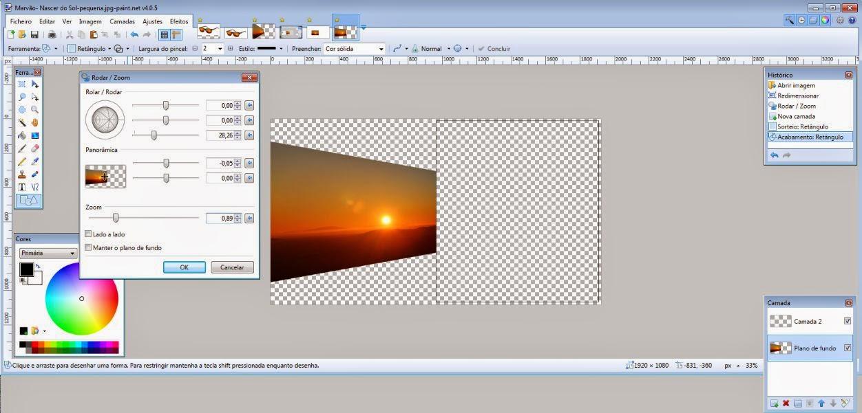 Paint.NET-Exemplo da Função Rodar e Zoom
