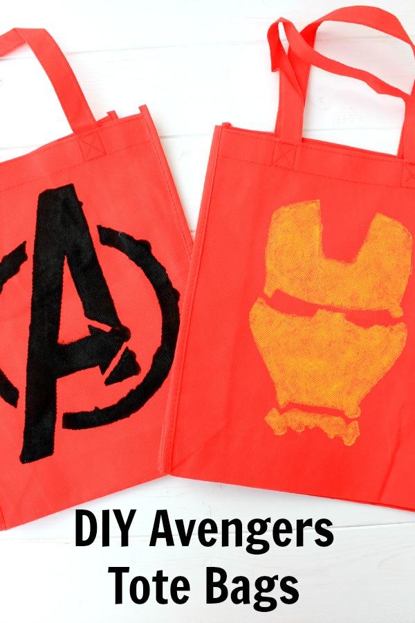 DIY Avengers Tote Bags #AvengersUnite #ad