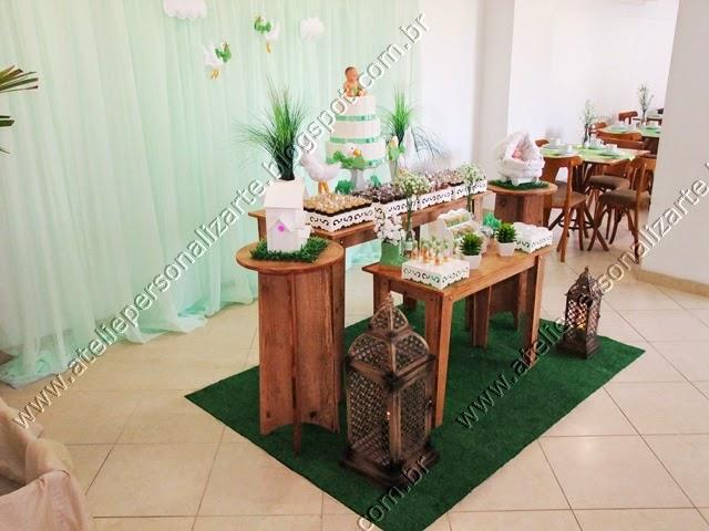 decoracao cha de bebe verde
