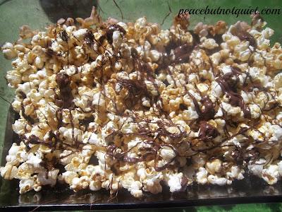 Chocolate Caramel Corn | Peace but Not Quiet