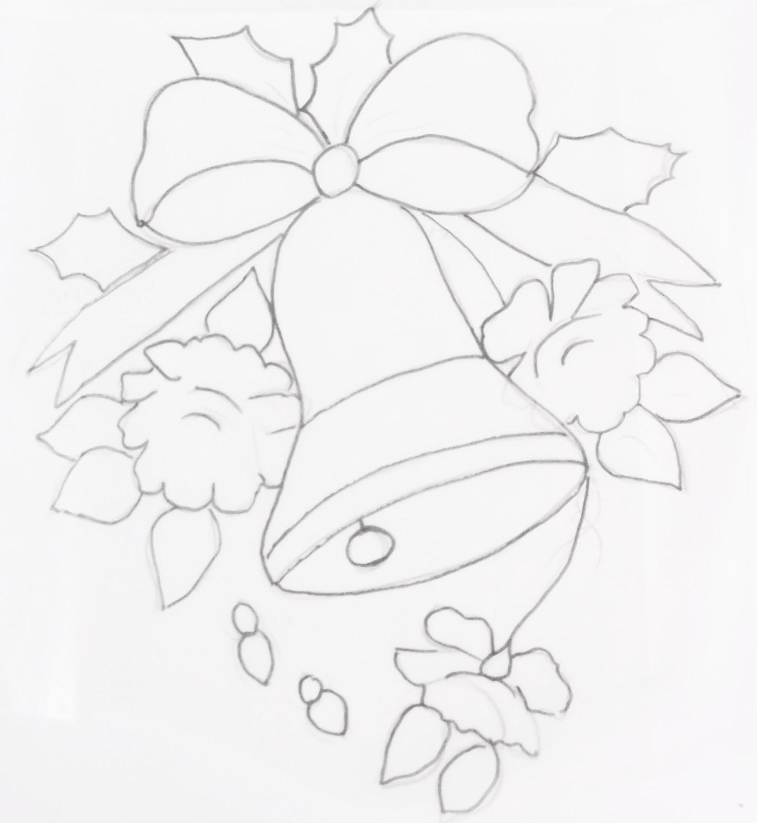 70 desenhos de sinos velas bonecos de neve e enfeites  - imagens sinos natal colorir