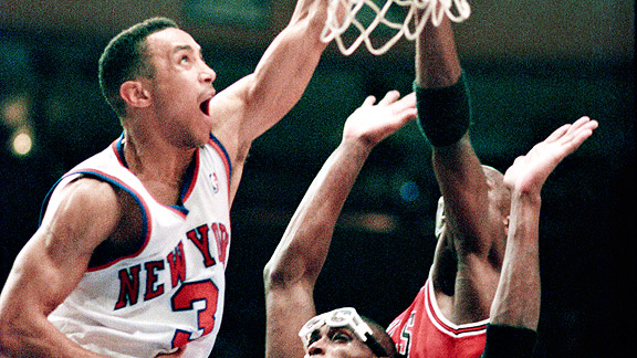 John straks sky rocketed into the rafters of madison square garden to