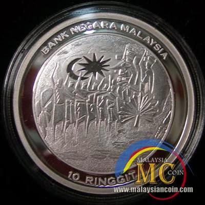 Duit syiling peringatan rm100 emas (pruf) 50 tahun muzium negara