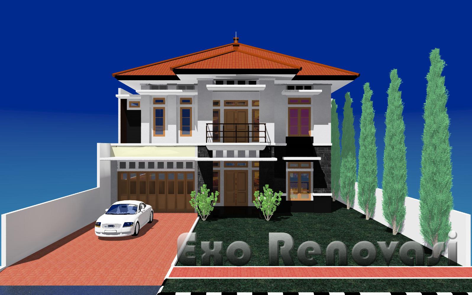 DESAIN 76 Desain Rumah Tinggal 2 Lantai Lokasi Taman Yasmin