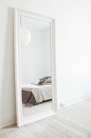 T d c interior styling oversized mirrors for Floor mirror white frame