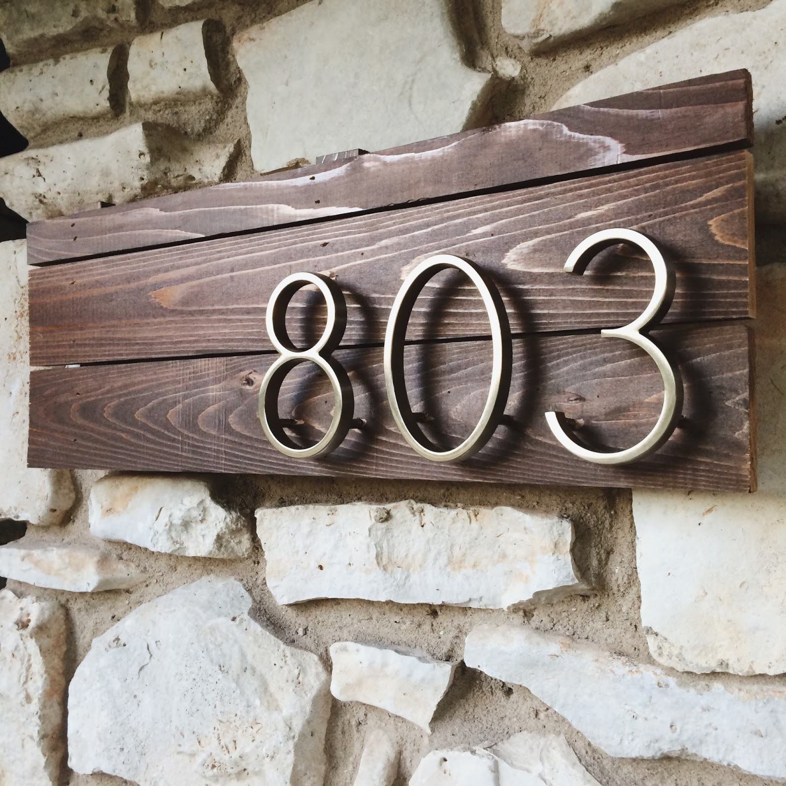 Cinsarah diy house numbers sign for House sign designs