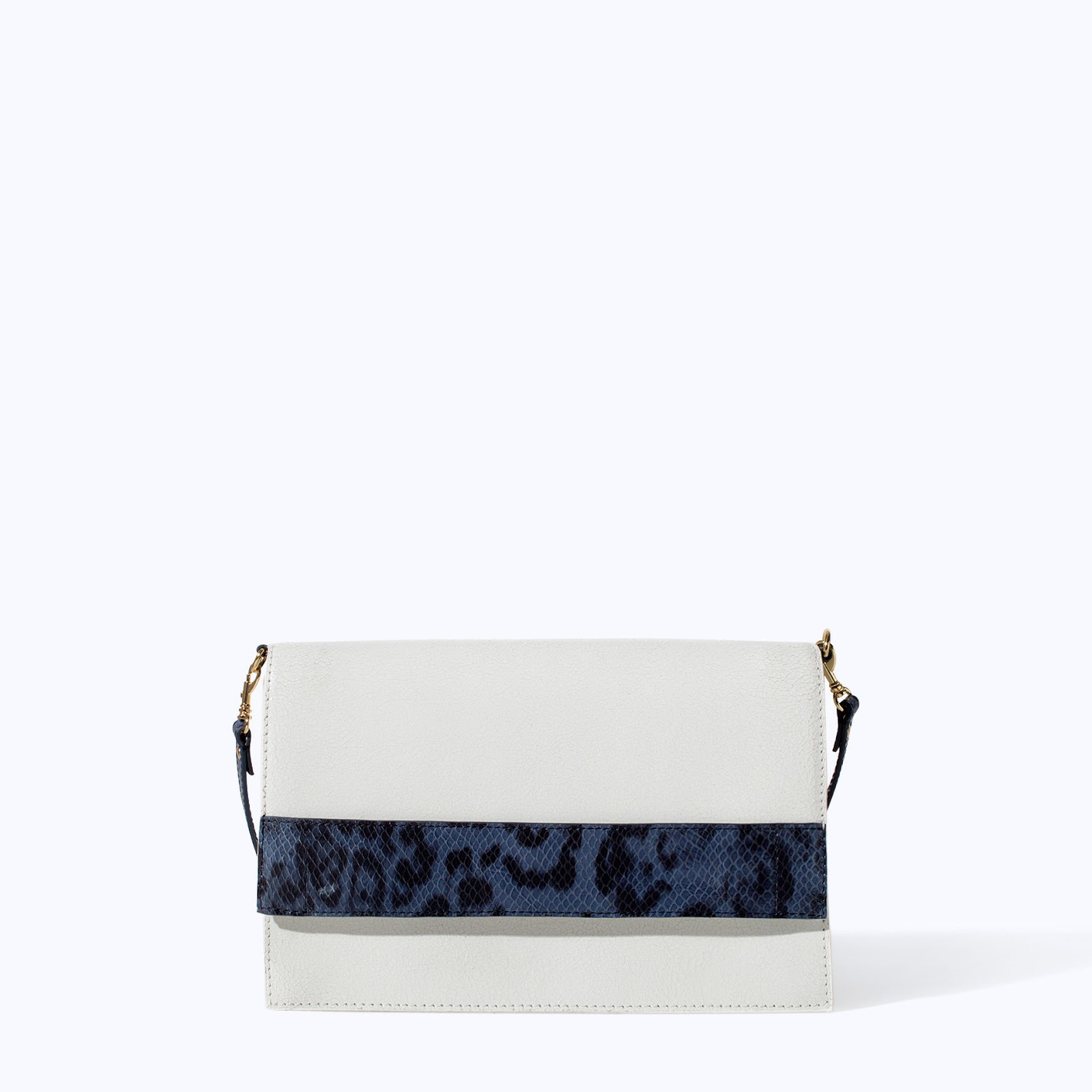 zara white clutch bag