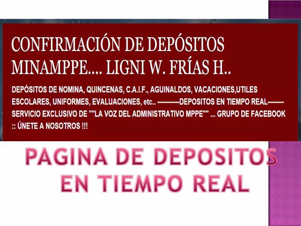 DEPOSITOS EN TIEMPO REAL