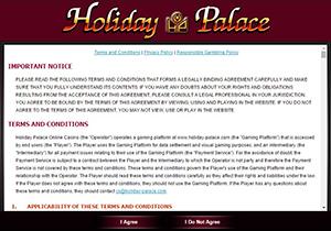 เงื่อนไข Holiday Palace