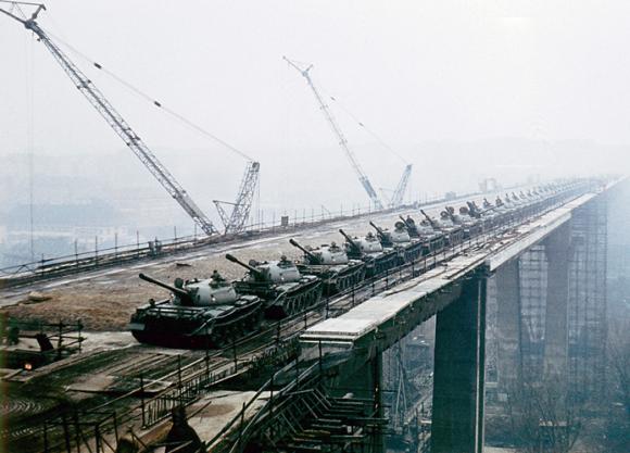 Zátěžové zkoušky - Nuselsky most