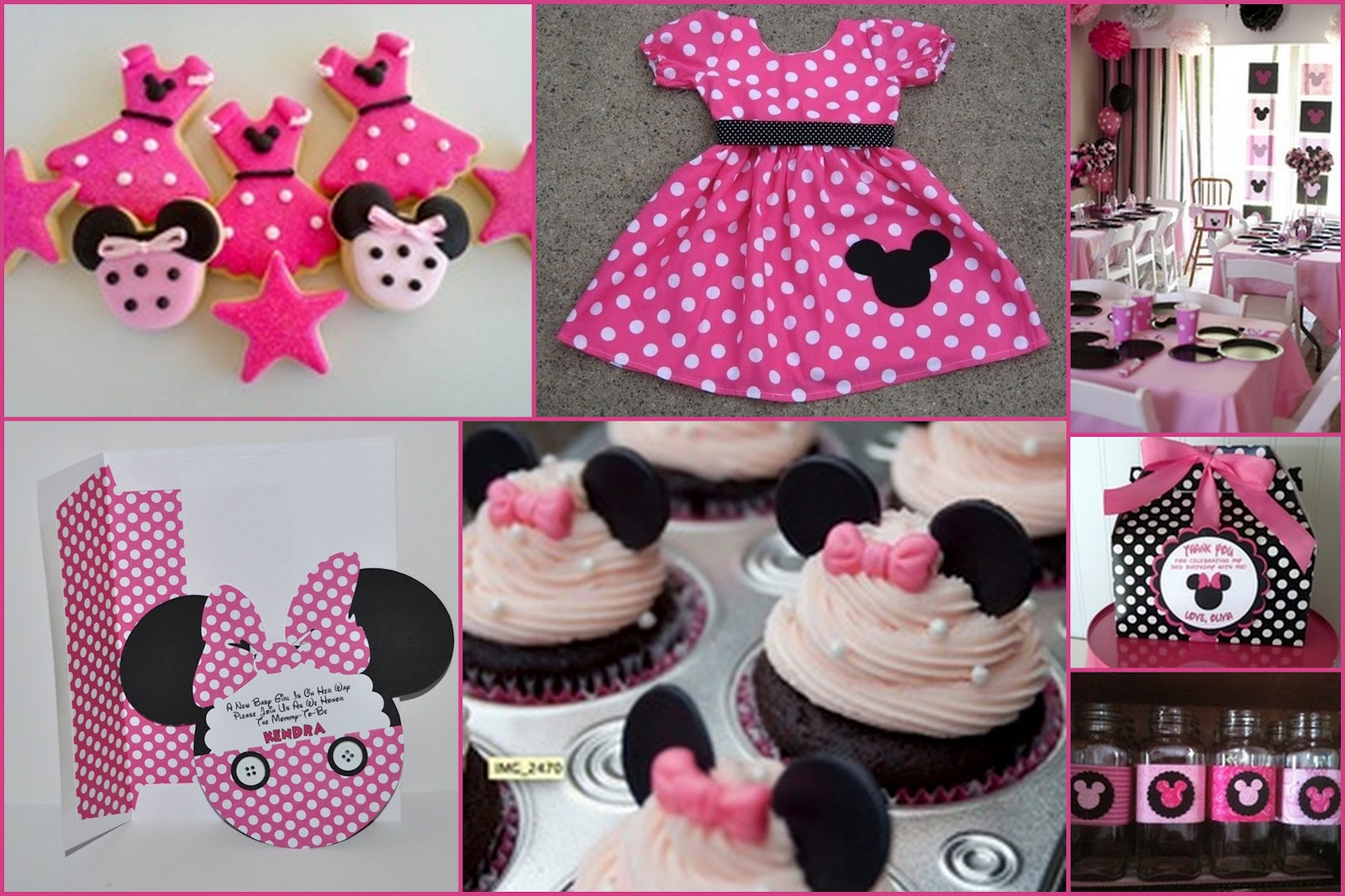 Minnie Mouse Diy Decorations For First Birthday Pinterest Image