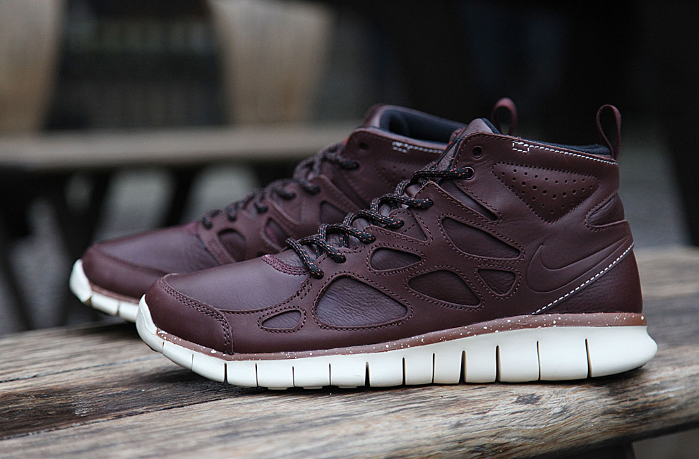 nike free run 2 sneaker boot qs barkroot brown