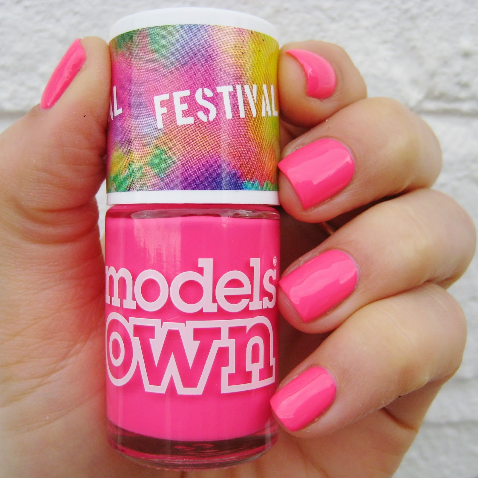 Models Own Festival Nail Polish Pink Wellies