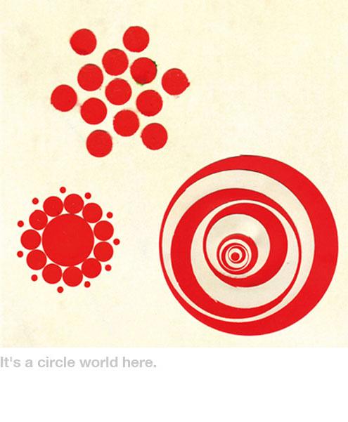 Takahiro Kurashima, diseño grafico,arte,art,graphic design,cuento,niños,book,niños,circulos,circles,red,rojo