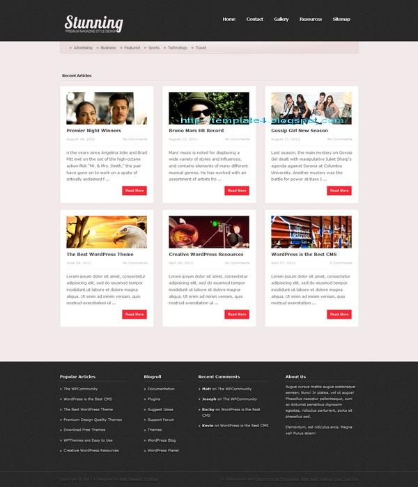 Stunning WordPress Theme