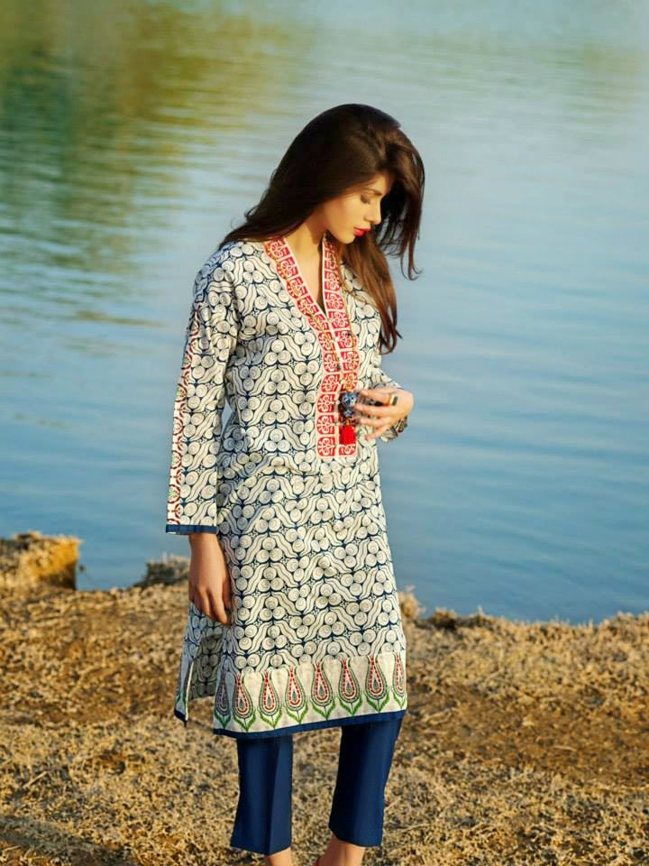 Khaadi Unique lawn collection 2015