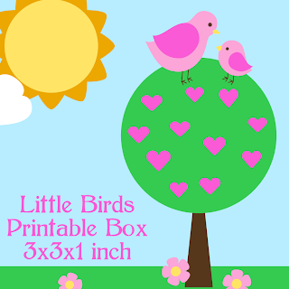 Little Birds Printable Box Thumbnail