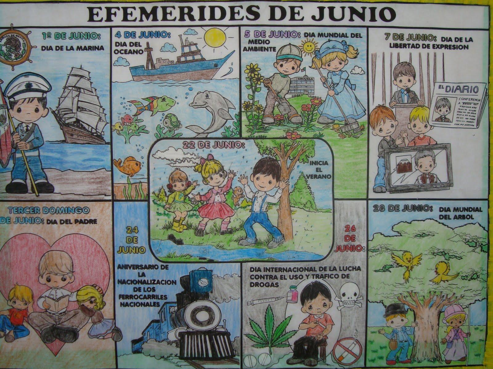 Periodico mural de junio escuela primaria profr benito for Deportes para un periodico mural