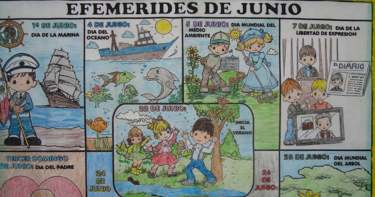 periodico mural de junio escuela primaria profr benito