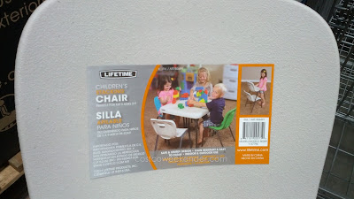 Have your kids have a place to sit with the Lifetime Children's Stacking Chair