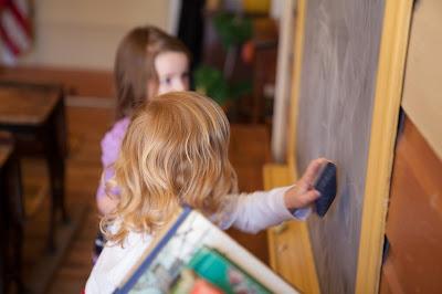 Little ones enjoyed the chalkboards