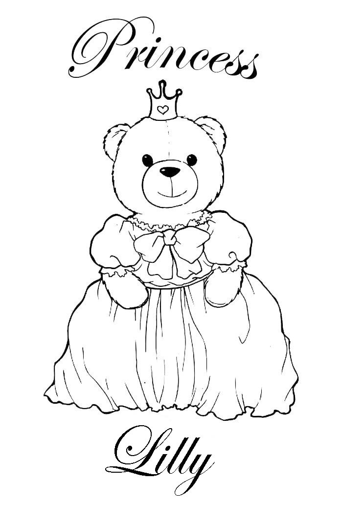 Princess Coloring Pages Brings You Personalised With Close To A 100 Girls Names