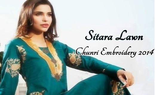 Sitara Chunri Embroidery 2014