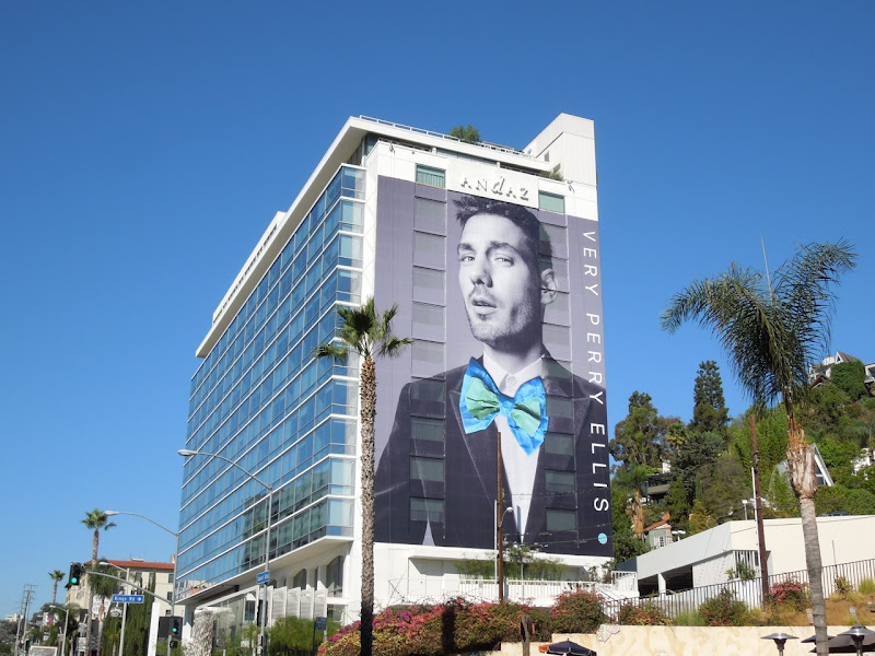 Very Perry Ellis bow tie billboard