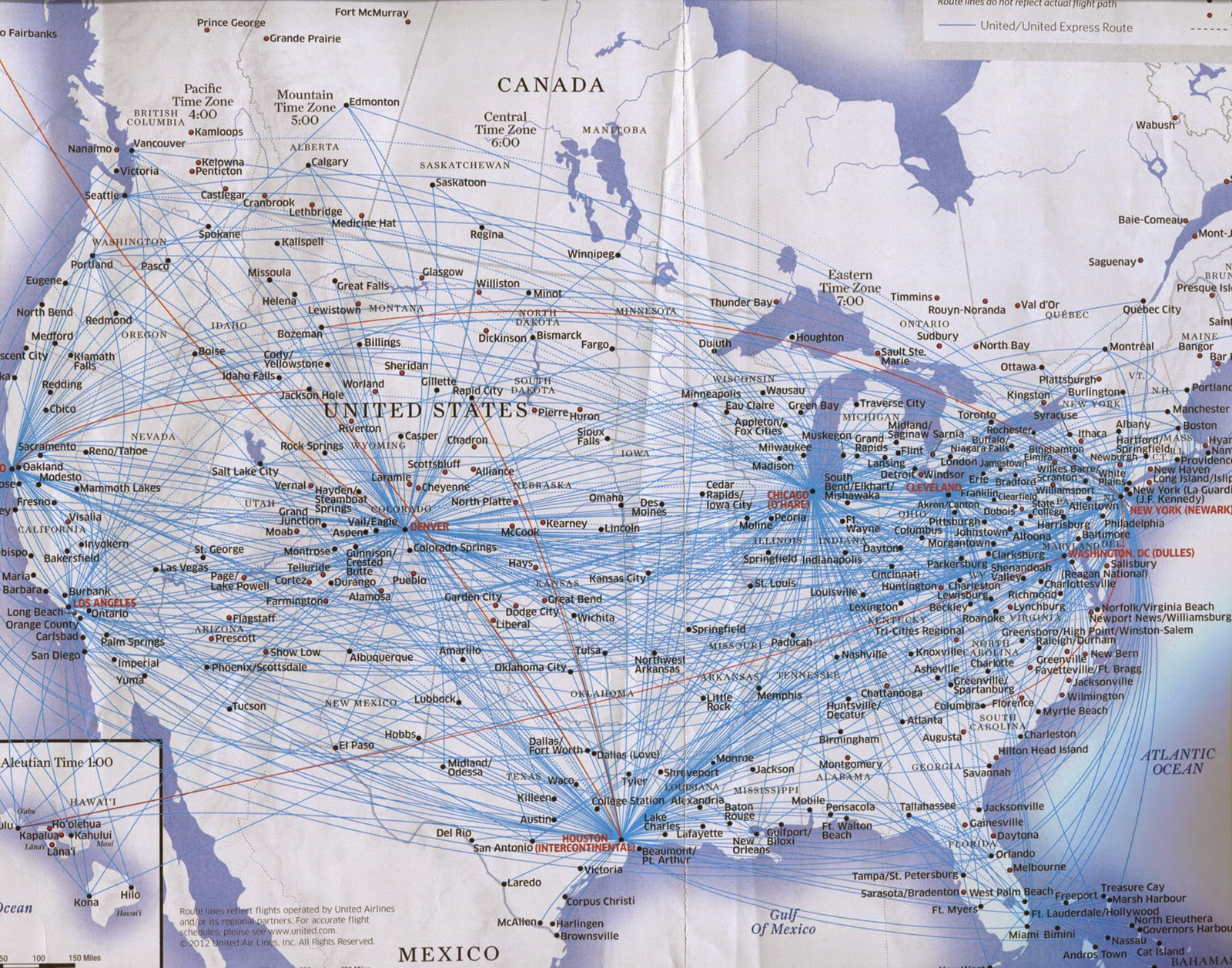 united airlines overpacked map of us domestic air routes