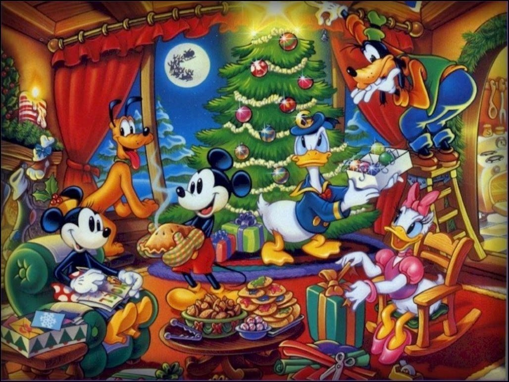 tarjetas de navidad de disney y mickey
