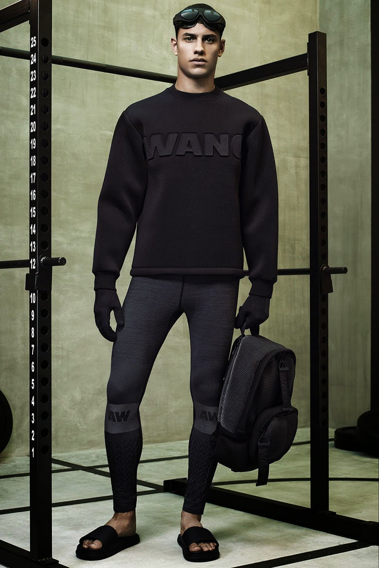 Collection Hommes Alexander Wang x H&M 2014 neoprene sportswear fashion NY sac à dos sweat néoprène
