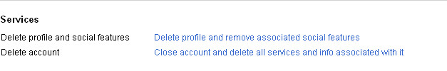 Google+ Account settings - Services