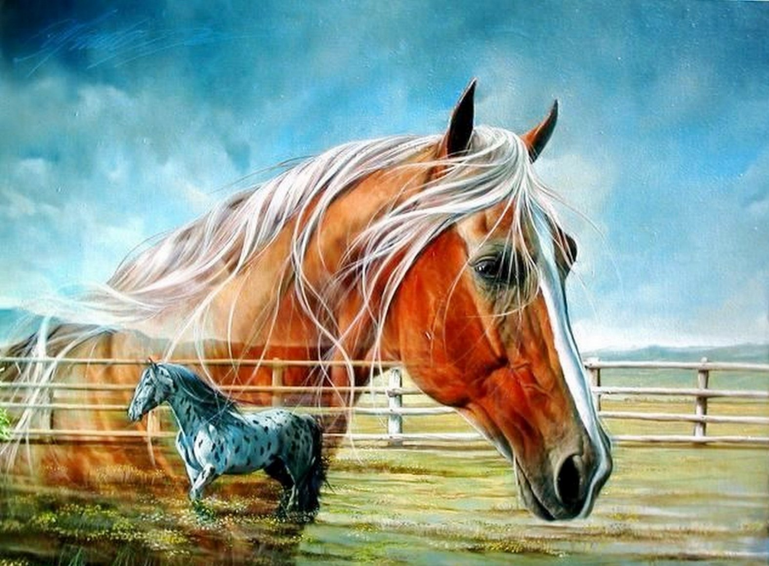 Cuadros modernos pinturas y dibujos cuadros de caballos - Los cuadros mas bonitos ...