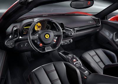 Interior design 2012 Ferrari 458 Italia Spyder