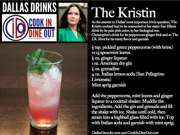 Dallas Drinks The Kristin
