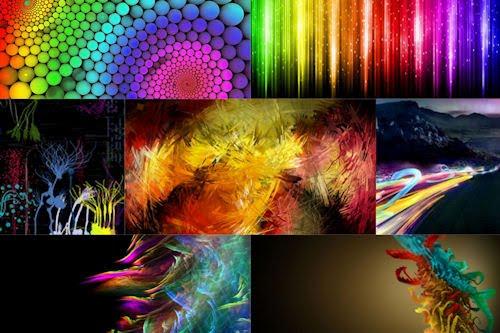 Fondos abstractos en imágenes de colores (7 archivos)